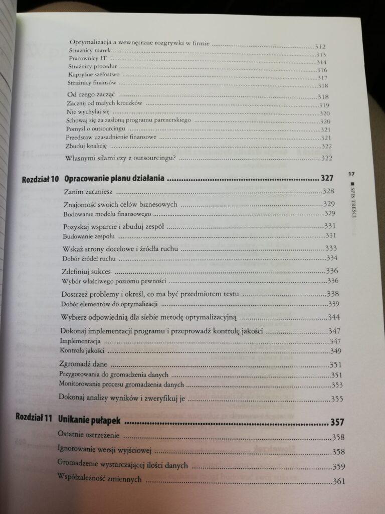 spis treści 5 strona docelowa