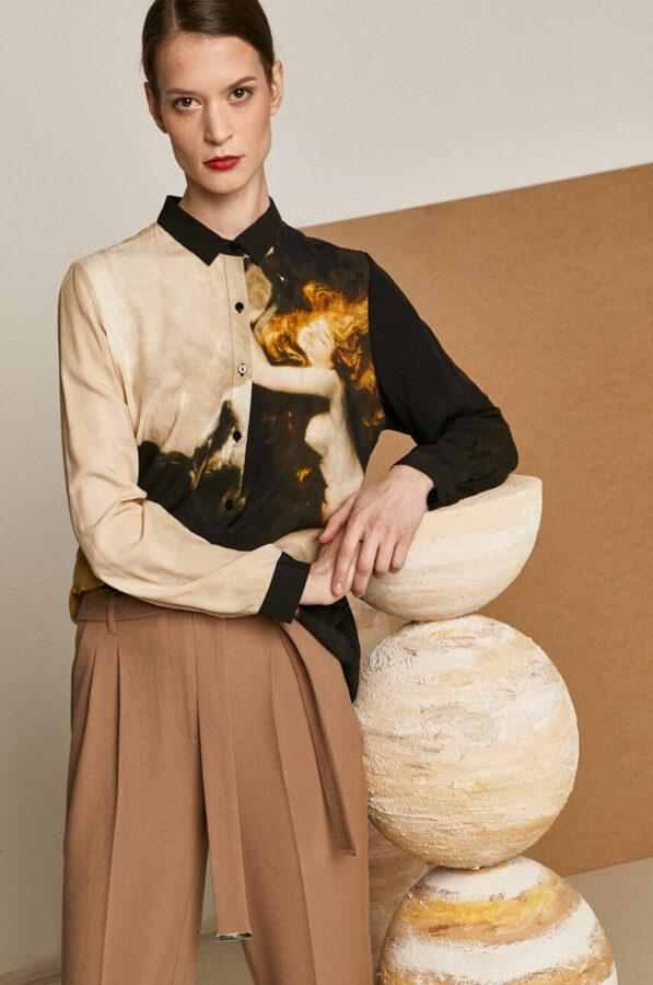 malarstwo w modzie bluzka od Medicine