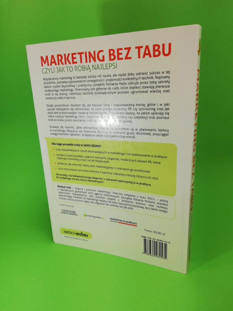Marketing bez tabu czyli jak to robią najlepsi tylna okałdka