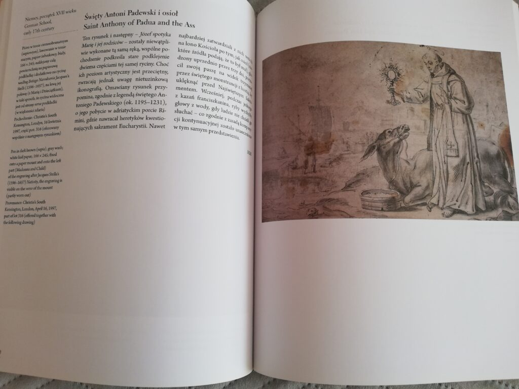 przyłkad strony w albumie Mistrzowie rysunku dzieła z kolekcji Barbary Piaseckiej- Johnson
