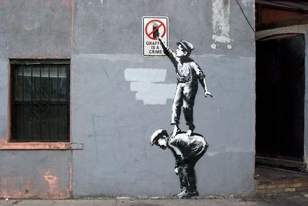 twórczość Banksy street art