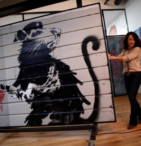 Banksy w Medicine i Warszawie szczur