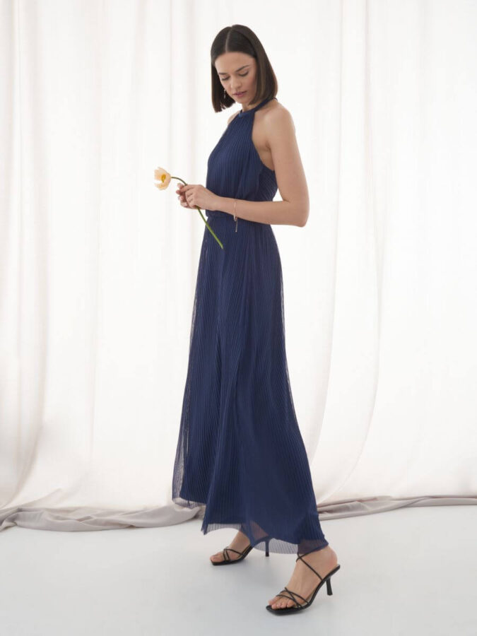 granatow suknia od Mohito