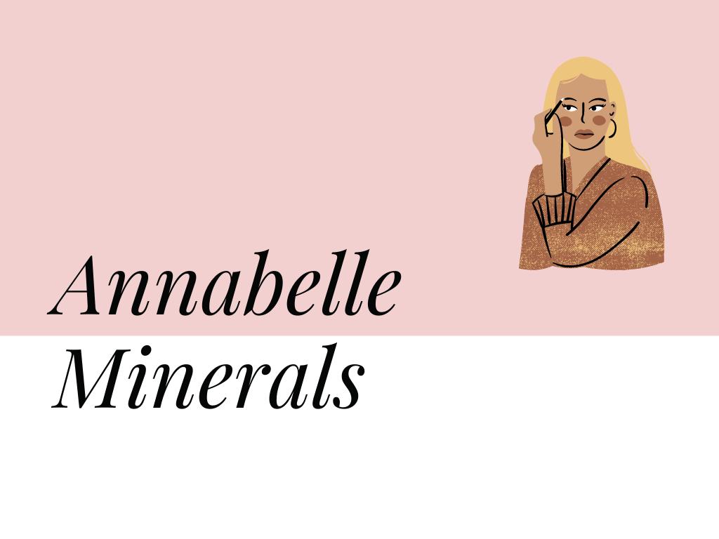 kosmetyki na lato napis Annabelle Minerals
