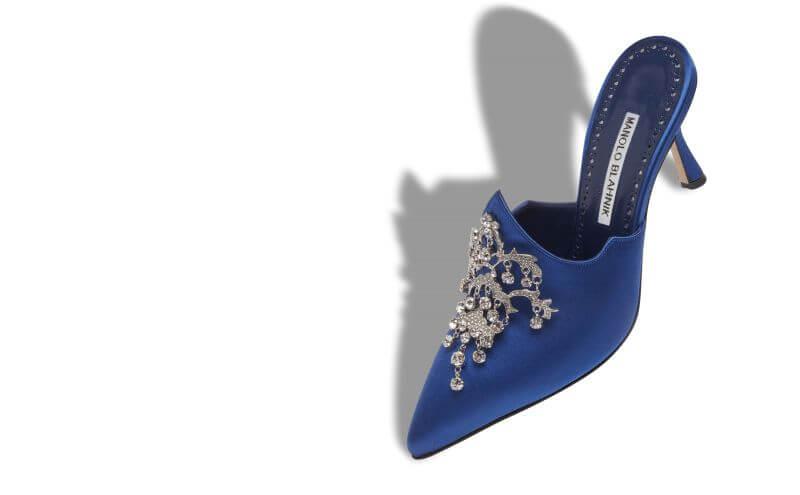 Manolo Blahnik niebieskie pantofle