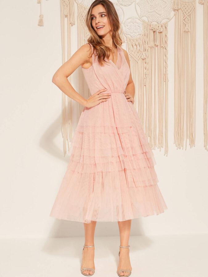 https://denicler.eu/ różowa sukienka od Deni Cler
