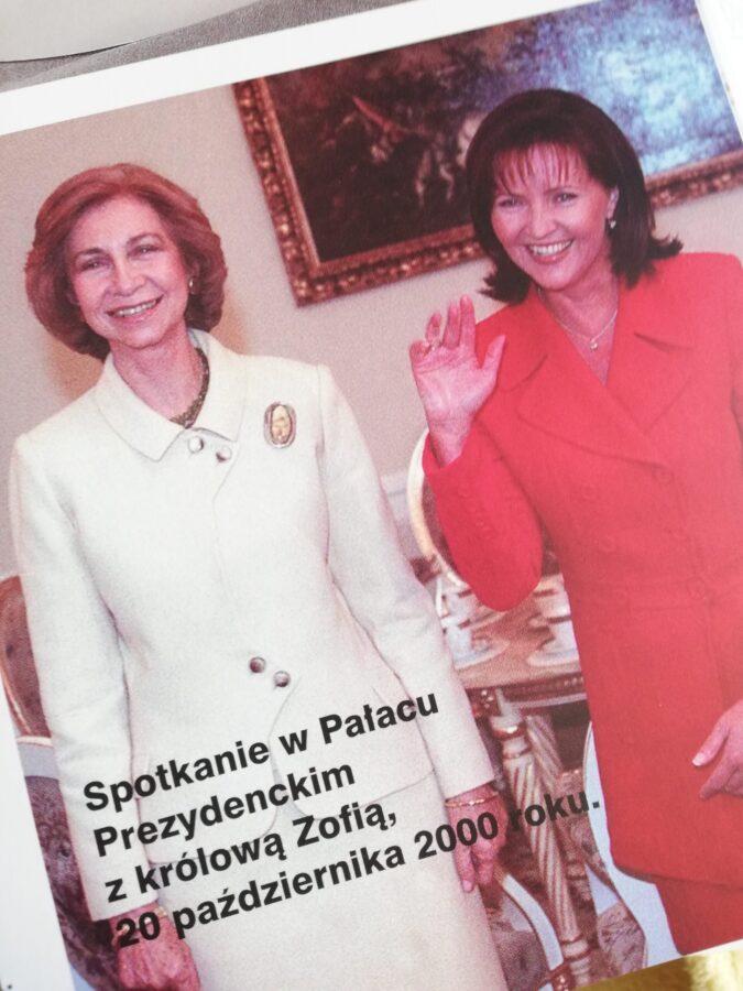 Jolnta Kwaśniewska z królową Hiszpanii