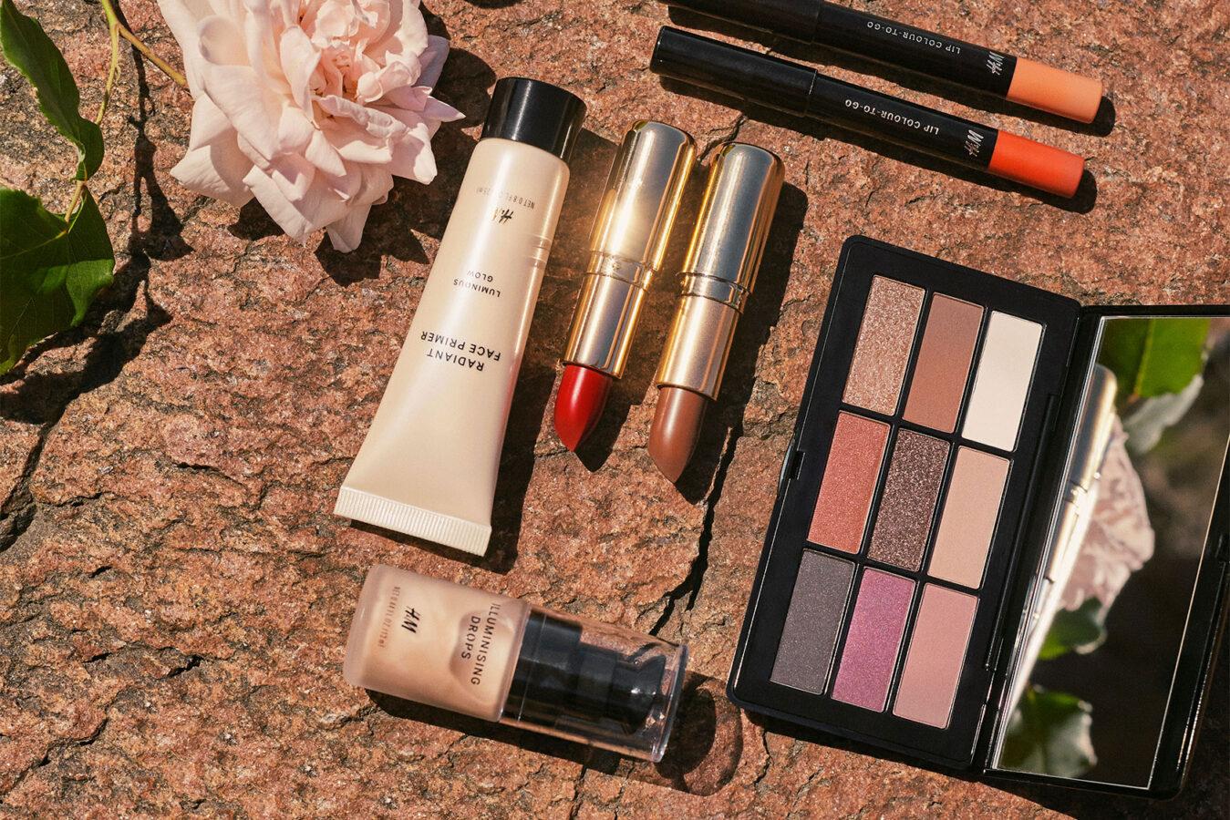 kosmetyki na lato zestaw kosmetyków z H&M