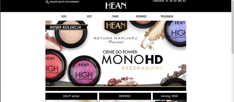kosmetyki na lato hean i cienie mono hd