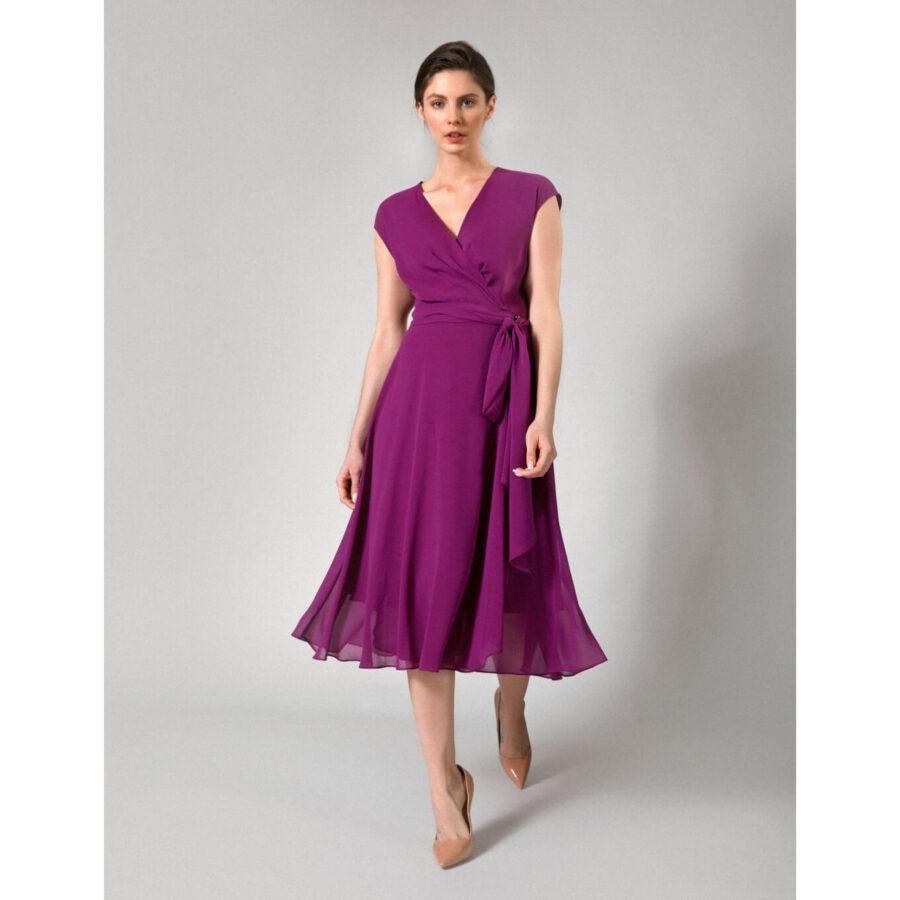 fioletowa sukienka z Molton