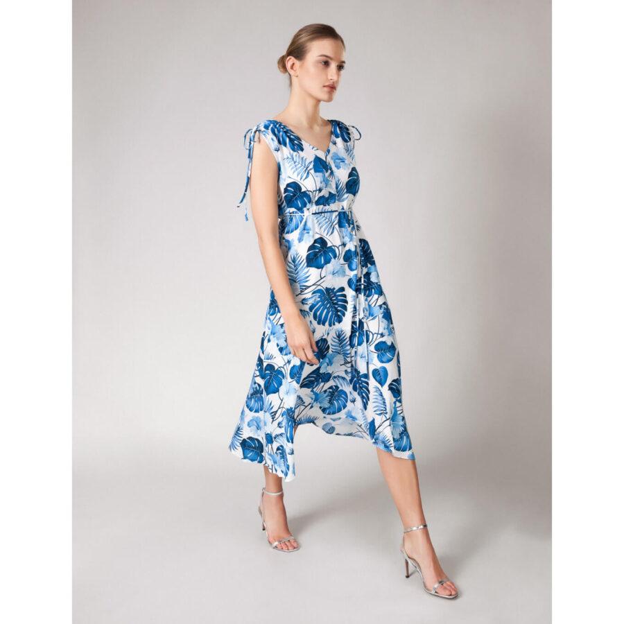 niebieska w kwiaty sukienka z Molton