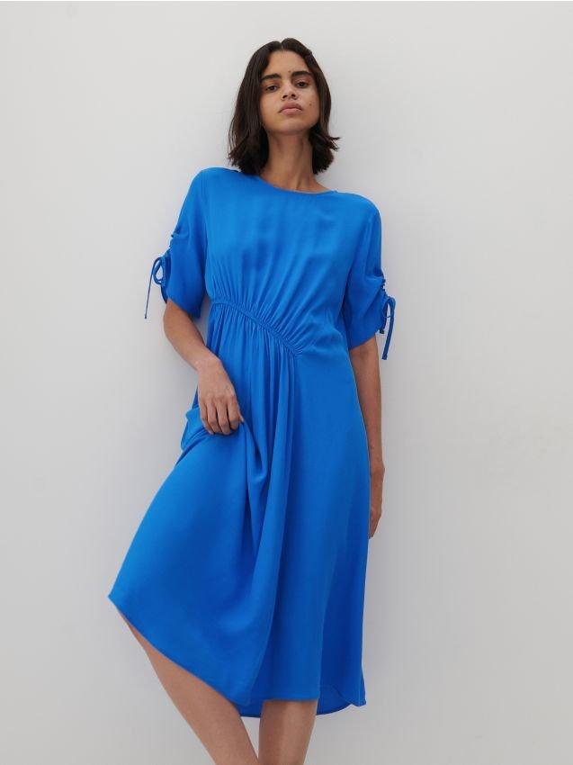 niebieska sukienka z reserved