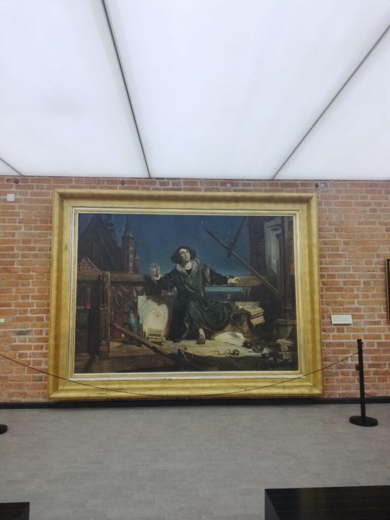 obraz Jana Matejki w muzeum Mikołaja Koprnika we Fromborku