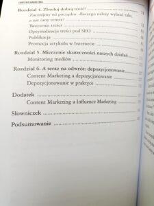 Content marketing spis treści 2